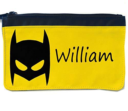 tigerlilyprints Federmäppchen, Federmäppchen, für die Schule, Federmäppchen, (Kleinkind Batman Maske)