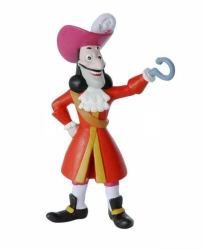 Bullyland 12890 - Spielfigur, Walt Disney Jake und die Nimmerland Piraten, Captain Hook, ca. 9,5 cm (Jake Der Pirat-figuren)
