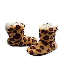 PICCOLI MONELLI Pantofole Peluche Bambina Invernali maculate ccalde  Invernali Chiuse Dietro a Stivaletto Alte tg 24 d78f380d9ad