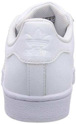 adidas Superstar Foundation, Unisex-Kinder Sneakers Weiß (Ftwr White/Ftwr White/Ftwr White)