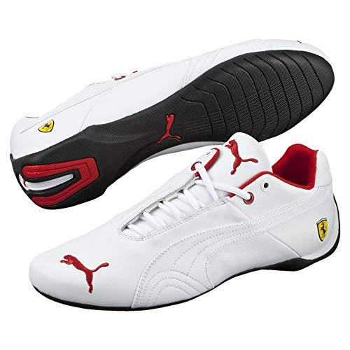 Puma Ferrari Future Cat Leder Sneaker White-White 8.5 (Puma Schuhe Ferrari Weiss)