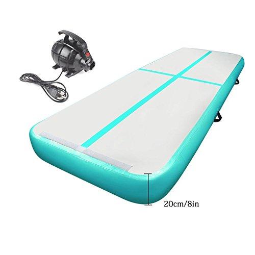 Cotogo 3/4/5/6/7/8x1x0.1/0.2 M Aufblasbare Airtrack Tumbling Gymnastic/Yoga/Taekwondo/schwimmende/Camping Trainingsmatte mit 500 Watt Elektrische Pumpe (Ausgezeichnete Geschenk für Tochter)