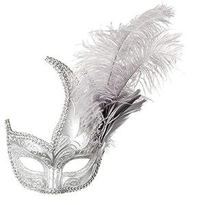 Boland 00220 Venice Paarezioso - Máscara para Ojos, Color Plateado