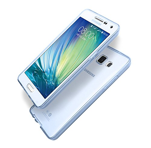 Cover Samsung Galaxy Note 5 N9200 360 Gradi,Custodia Full Body Samsung Galaxy Note 5 N9200,Fronte Retro trasparente Ultra Sottile Silicone Case Molle di TPU Sottile 3 in 1 Protezione Completa Glitter  blu
