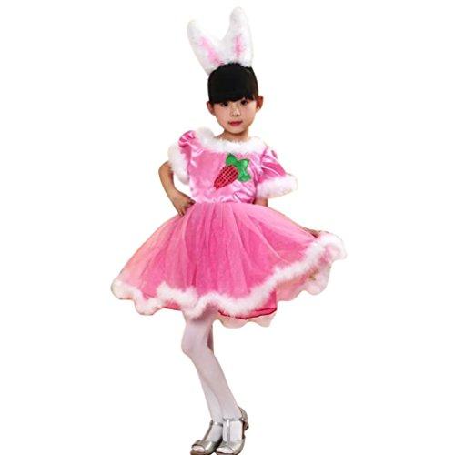 OverDose Baby Mädchen Tütü Kleid Weihnachten Kostüm Outfit Kleidung Party Prinzessin Kleider(11-13T,A-Rosa) (Baby Elf Outfits Für Weihnachten)