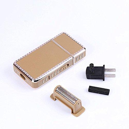Preisvergleich Produktbild GX Elektrisches Rasiermesser Doppelköpfiges Hin- Und Hergehendes Rasiermesser , Brown,brown