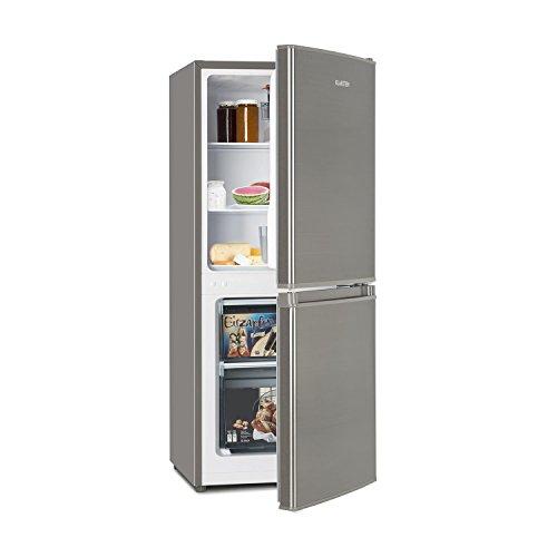 Klarstein Big Daddy Cool 100 • Kühl-Gefrierkombination • 73 L Kühlschrank • 33 L Gefrierschrank • 106 Liter gesamt • Temperaturregler • 2 Ablagen • freistehend • ca. 47 x 112 x 49 cm (BxHxT) • silber