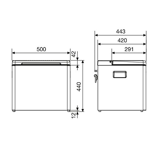 DOMETIC 9105200003 Combicool RC1600 Nevera de Absorción, 31 litros, 12/230V y Gas...