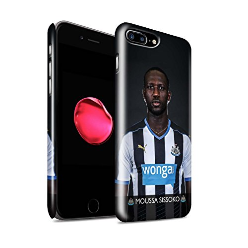 Offiziell Newcastle United FC Hülle / Glanz Snap-On Case für Apple iPhone 7 Plus / Sissoko Muster / NUFC Fussballspieler 15/16 Kollektion Sissoko