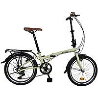 Ecosmo, bicicletta pieghevole da città, 6 velocità, 20F01CR, 50,80 cm