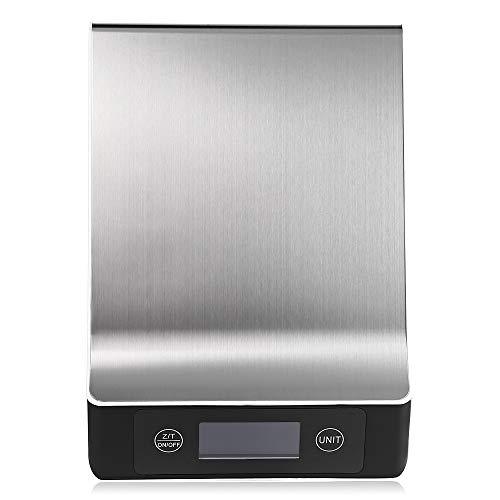 Shuzhen,bilancia da cucina digitale per cucina con retroilluminazione lcd(color:argento,size:15kg)