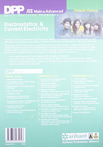 Daily Practice Problems (DPP) for JEE Main & Advanced - Electrostatics & Current electricity: Physics- Vol. 6