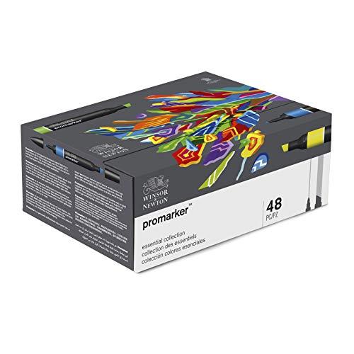 Winsor & Newton - Promarker - Set de 48 rotuladores, colores surtidos