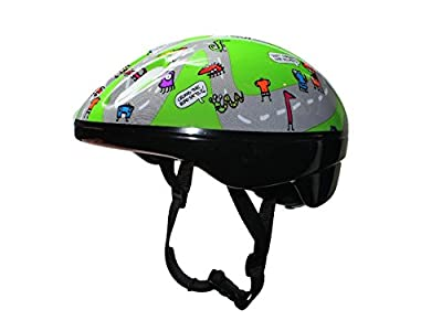 Junior Kids Childs Cycling/Bike Helmet With Adjustable Headband For A Safer Fit, Age Guide 3, 4, 5, 6, 7 yrs Ideal First Childrens Helmet from HI Mark
