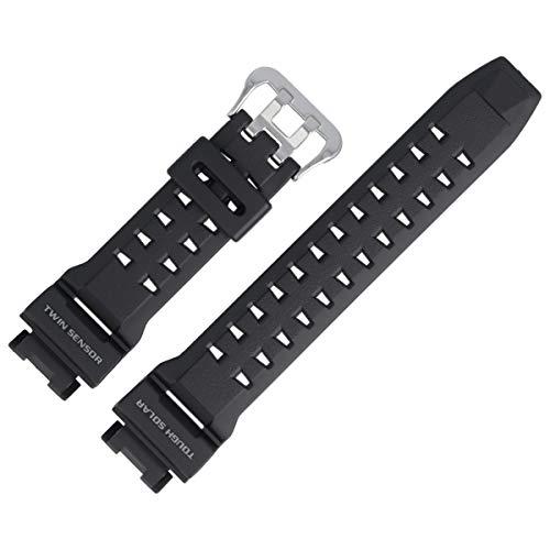 Casio Uhrenarmband Ersatzband 25mm Kunststoff Schwarz - GW-9200