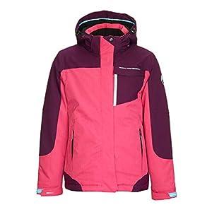 Killtec Mädchen Nailah Jr Skijacke / Funktionsjacke mit abzippbarer Kapuze und Schneefang