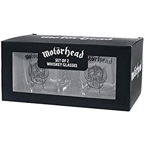 for-collectors-only Motörhead Whiskey Gläser Set Tumbler Glas Whiskeyglas Glasses Warpig Logo 2er Set Trinkglas