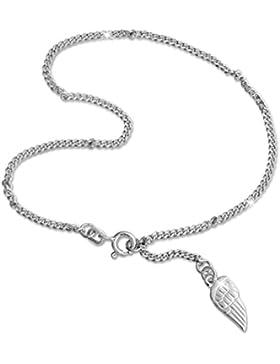 SilberDream Fußkette Flügel 925 Sterling Silber 26cm Fußkettchen SDF003