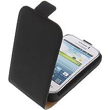 Funda para Samsung Galaxy Young 2 protectora tipo flip para móvil negra