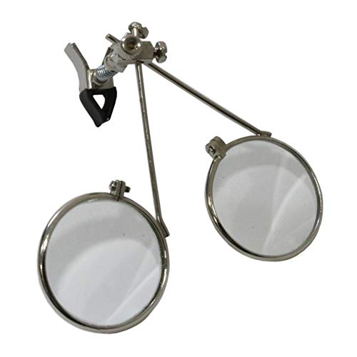 Juwelier-Tools Lupe, 5,5 x & 5,5 x = 11 x Clip-On Doppellinse, Augenbrauen-Werkzeug Clip-on-lupe