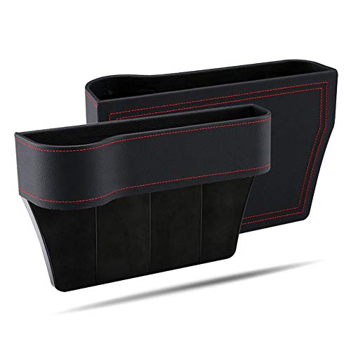 2 Pack Autositz Gap Aufbewahrungsbox Getränkehalter Handyhalter Multifunktionale Auto Zubehör Premium PU Leder Sitz Organizer