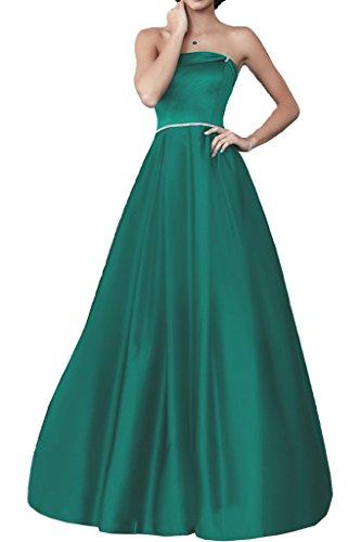 Royaldress Violett Satin Pailletten Lang Abendkleider Ballkleider Partykleider Bodenlang A-linie Rock Jaeger Gruen