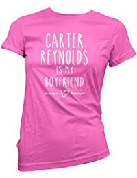 HotScamp Carter Reynolds Is My Boyfriend Tee - Vlogger Star Merch Womens Fitted T-Shirt - Various Colours and Sizes