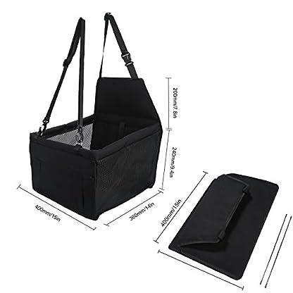 Aandyou Pet Car Booster Seat Breathable Waterproof Pet Dog Car Supplies Travel Pet Car Carrier Bag Seat Protector Cover… 8