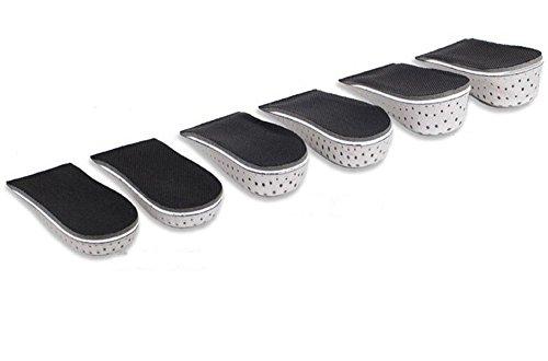 TININNA Unisex Atmungsaktive Unsichtbar Erhöht Einlegesohlen Schuh Pad Erhöhende Schuheinlagen Vergrößerung 4.3 CM