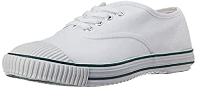 BATA Boy's Tennis White Canvas Formal Shoes - 4 Kids UK/India (22 EU) (4391379)