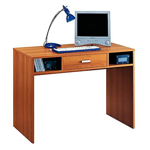 Scrivania porta PC scrittoio in legno colore noce con cassetto SPRINT 41.42.25