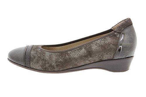 Chaussure femme confort en cuir Piesanto 9723 ballerine confortables amples Taupe