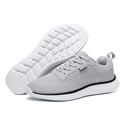 Fascino-M Herren Damen Laufschuhe Sportschuhe Freizeit Turnschuhe Sneaker Breathable Mesh Leichtgewicht Athletic Schuhe