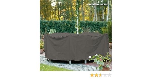taupe /Ø 200 cm Hohe: 80cm Videx-Gartenm/öbel-Schutzh/ülle f/ür runde Tischgruppe