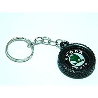 Skoda Schlüsselanhänger Leichtmetallrad Stil Schlüssel Ring