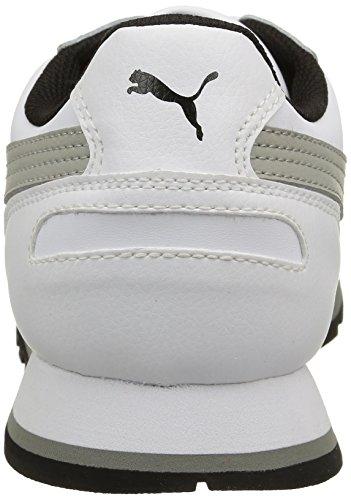 Puma  ST Runner Full L, Chaussures de Gymnastique mixte adulte Bianco/Limestone Gray
