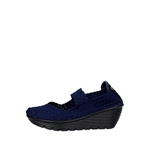 Pregunta PCAKELLY-005 Sneakers Donna Elasticizzato Blu Blu 36