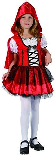 Cappuccetto Carnevale Di Kostüm Rosso - Generique Costume cappuccetto rosso bambina 4/6 anni (104/116)