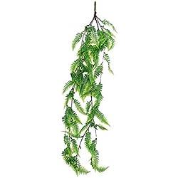 CTGVH Künstliche Hängepflanzen, künstliche Blätter, Rattan, Dekoration für Drinnen und draußen, Zuhause, Restaurant, Garten, Hochzeit, Wandkunst