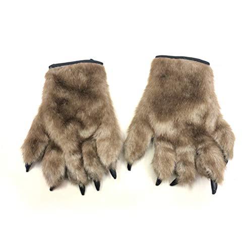 BESTOYARD Halloween Cosplay Handschuhe Bär Palm Handschuhe Scary Horror Tier Handschuhe Maskerade Halloween Cosplay Zubehör 1 Paar