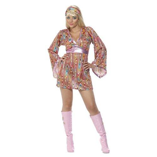 70er Jahre Hippiekostüm Kostüm sexy Hippie für Damen Damenkostüm 36-42, Größe:S (Sexy 70er Jahre Outfits)