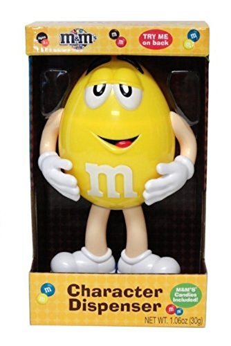 M & M Dispensador de caramelos de carácter coleccionable Amarillo by