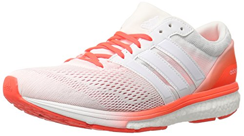 Adidas Herren Adizero Boston 6m Laufschuh White/White/Infrared