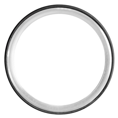 Tannus slicks fixie singlespeed pneumatici per bici da corsa in gomma piena, 700 x 23 cm, nero