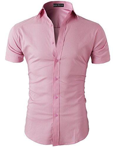 Lyon Becker - Chemise casual - Homme Rose