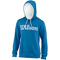 Wilson M SCRIPT COTTON PO HOODY - Sudadera, Hombre, Azul(DEEP WATER WIL/WHITE)