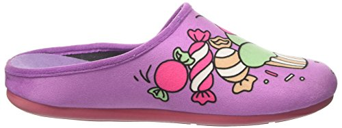INBLU Virgola, Pantofole Aperte sulla Caviglia Donna Viola (Glicine)