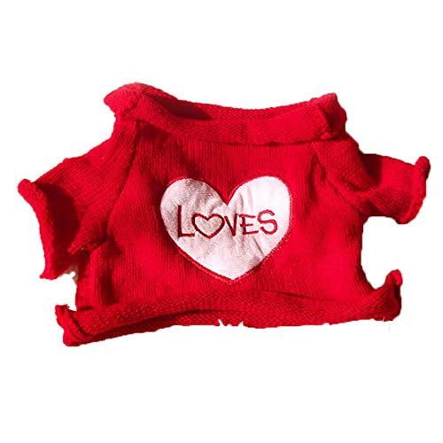 Little Kostüm Bear - Yatoy love Strick Pullover für Plüschbär Bär Kleidung Spielanzug Tiere Puppe Shirt Kostüme - Rot