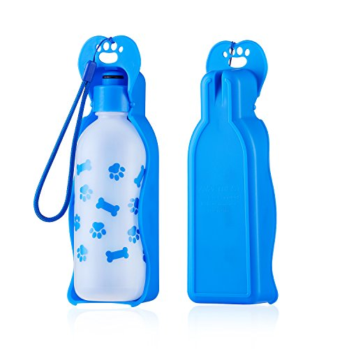 Anpetbest Pet Travel Water Bottle, Portable Drinking Bottle Feeder Dispenser Mug for Dogs, Cats and Other Small Animals 325ML /11oz