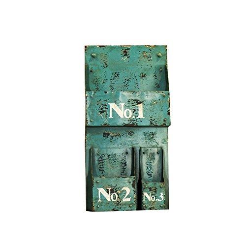Porte-magazines et porte-journaux Étagères De Revues Rétro Do Old Wall Hanging Iron Shelf Decoration Display Stand ( Couleur : Vert )